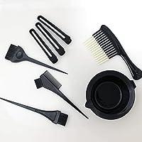 ALINCAS Maya Beauty Hair Dye Set Kit Black (5pcs Hairdressing Brushes Bowl Combo Salon Hair Color Dye Tint DIY Tool Set Kit) hair brush professional easy to apply applicator quick color