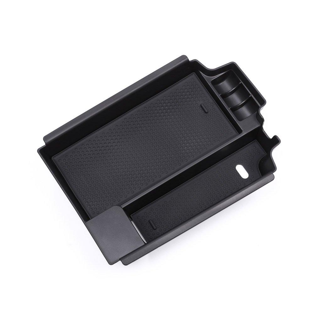 nero a sinistra guida colore Contenitore organizer da interni per il bracciolo centrale dell/'auto