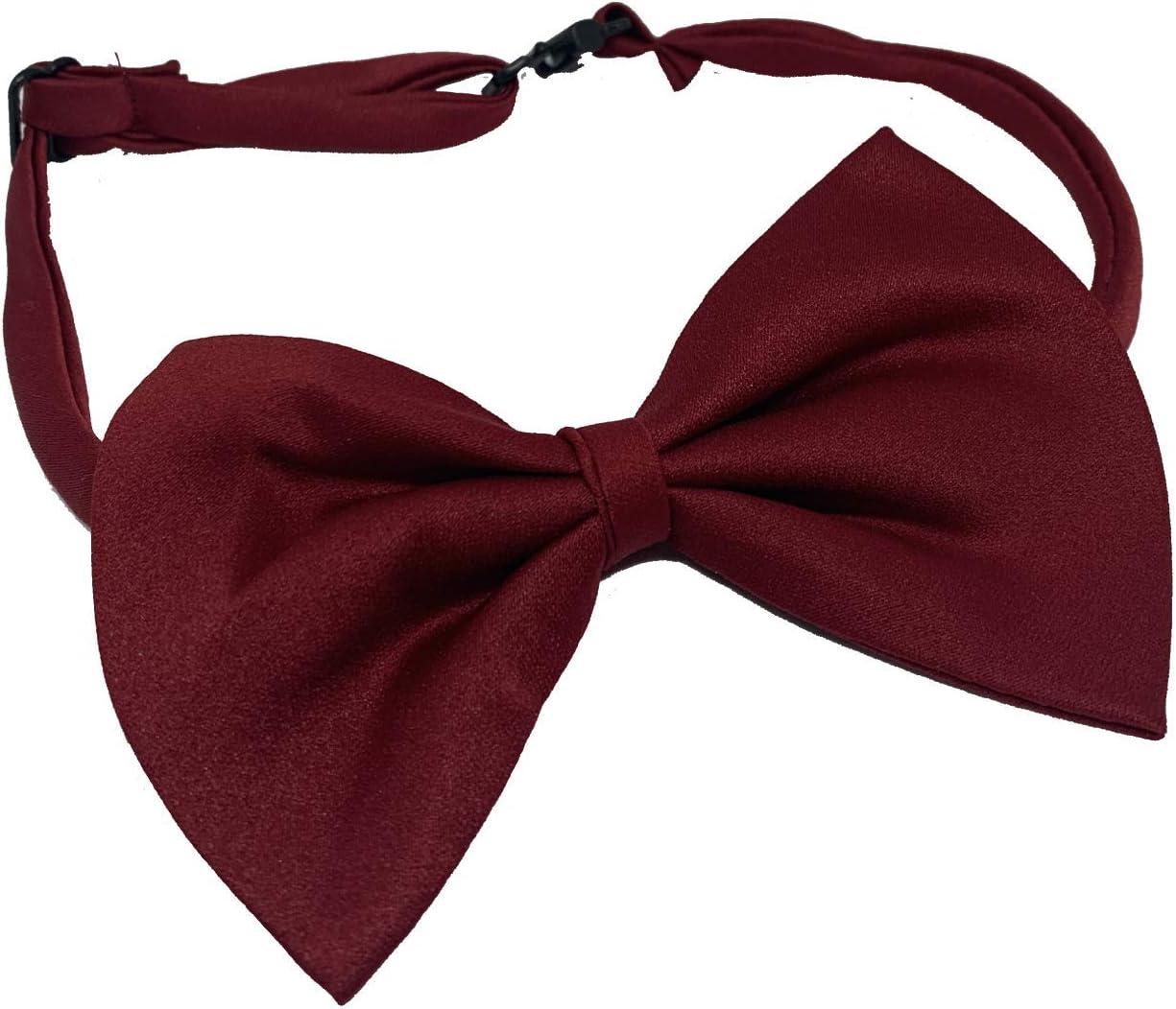 Vita Sharks Vestido para perro/gato/cachorro, esmoquin de seda, collar de animales pequeños, corbata suave formal ajustable (granate)