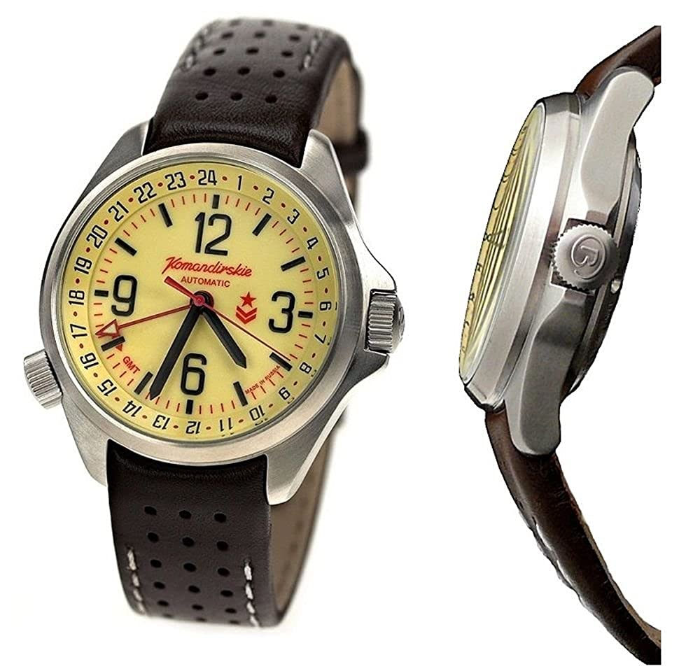 Amazon.com: Vostok Komandirskie K34 Russian Military Watch Black 2426 / 350007: Watches