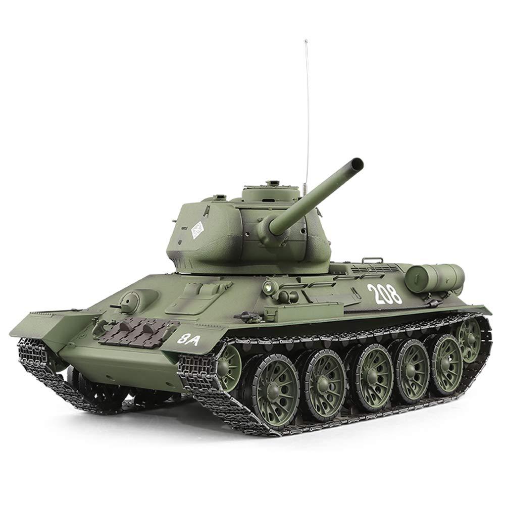 Pinjeer Soviet T34 Control Remoto Juguetes de Tanque Batalla de Cuatro Ruedas Impulsión a Las Cuatro Ruedas con Control Remoto Todoterreno Modelo de Coche Regalos para niños Mayores de 12 años