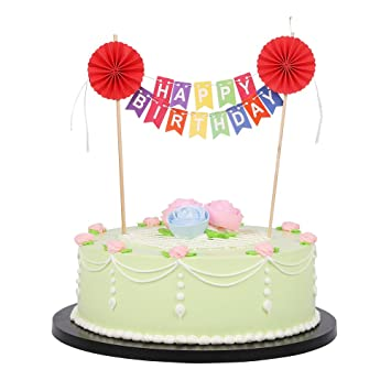 Image Unavailable Not Available For Color Rainbow Colorful Happy Birthday Cake Topper