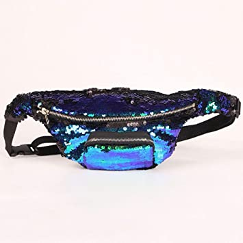 Image Unavailable. Image not available for. Color  Daisy Storee Reversible  Sequins Glitter Waist Bag Fanny Pack Belt Zip Bum Bag Pouch Hip Purse b84b6723fdbf