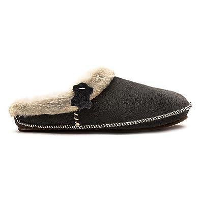 682767323c8e Clarks Womens Seasonal Clar Eskimo Ski Suede Slippers In Grey Standard Fit  Size 8