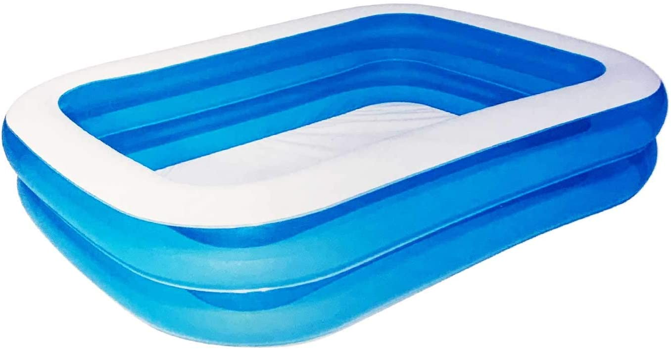 Acan Piscina Hinchable Rectangular de 201 x 150 x 51 cm
