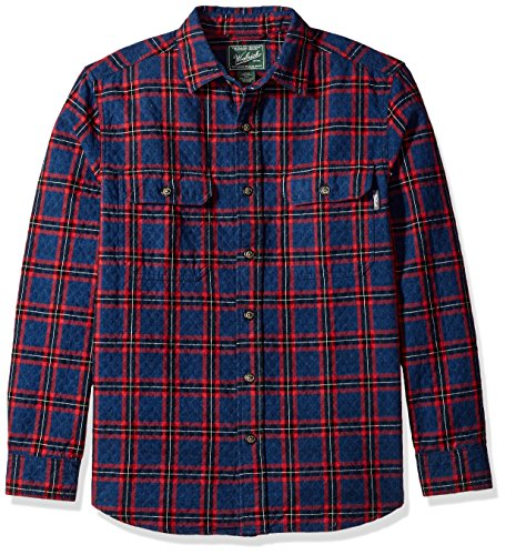 Valley Old Da Woolrich Cloth Bottoni Shirt Uomo Plaid Maglia Double Con Quilted Black pqgwtUxT
