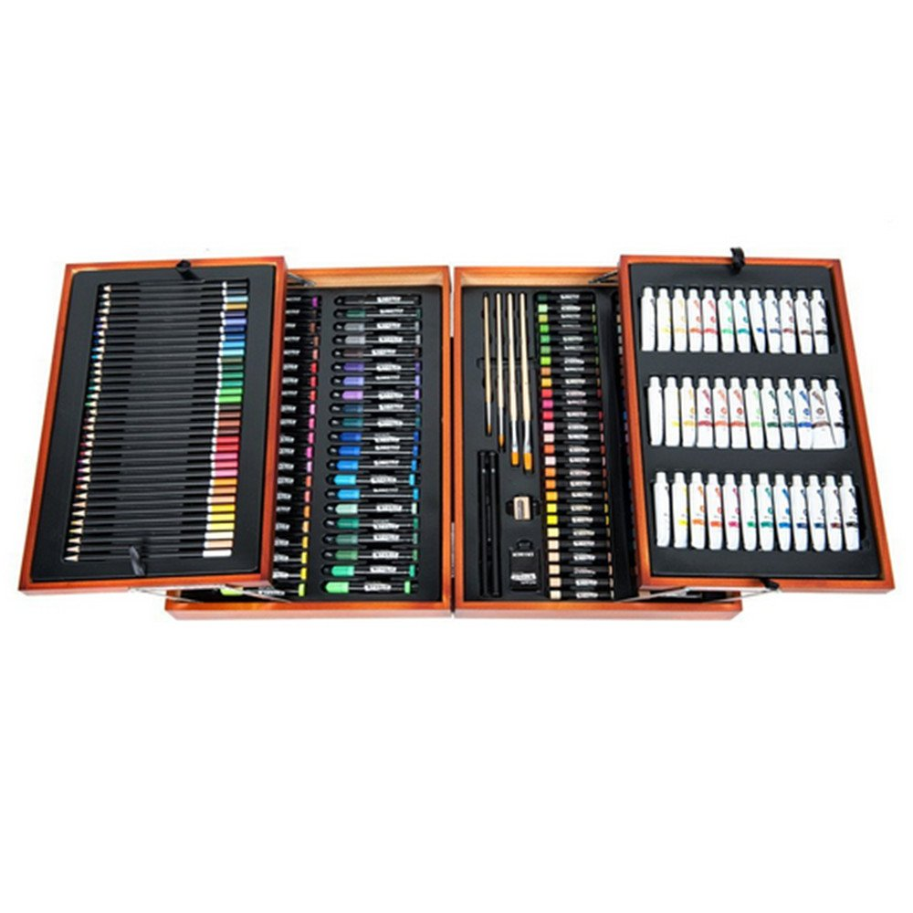 NERLMIAY Colorful 174 piece Art Kit Set Pencils Pastels Painting School Kids Artist Case Drawing Artist Tools Drawing Tools Art Tools Studio Essentials Mixed Media Art Set Case