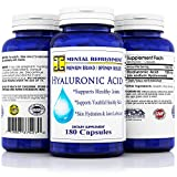 Mental Refreshment: Hyaluronic Acid – 100mg 180 capsules (1 Bottle) For Sale