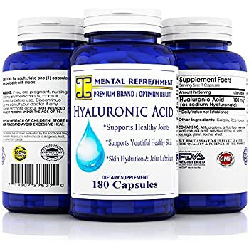 Mental Refreshment: Hyaluronic Acid - 100mg 180 capsules (1 Bottle)