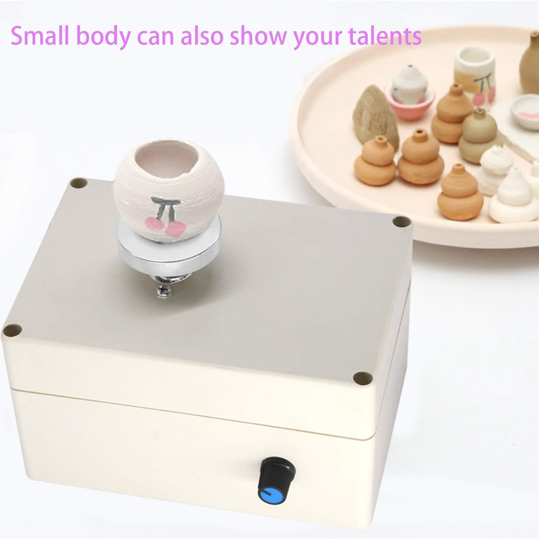 con strumento fai da te per lavori artistici in ceramica in ceramica per modellare l/'argilla scuola negozi per adulti e bambini 2000 giri//min fai da te Mini macchina per ceramica USB