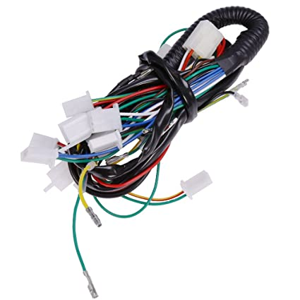 Enjoyable Amazon Com Full Electric Wire Wiring Harness For 50Cc 70Cc 90Cc Wiring Cloud Staixuggs Outletorg