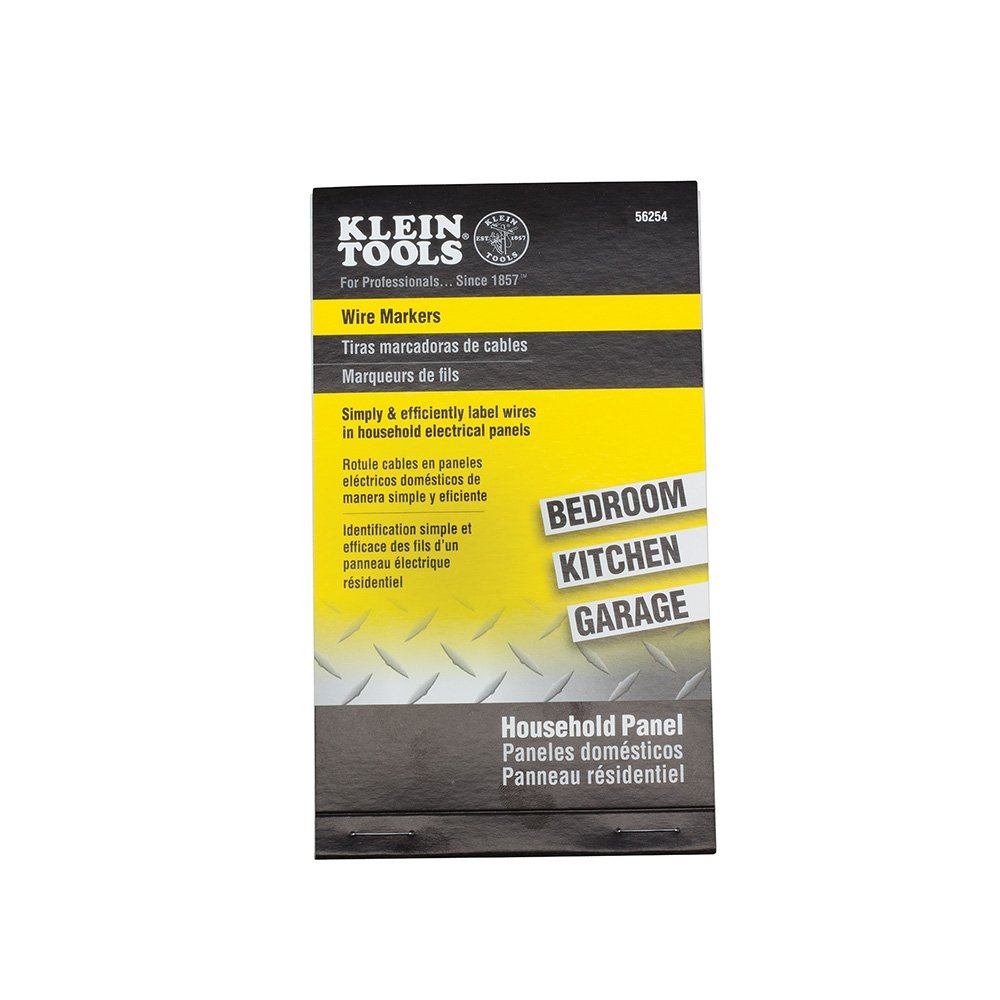 Amazon.com: Wire Marker Book-Household Electrical Panel Klein Tools 56254:  Home Improvement