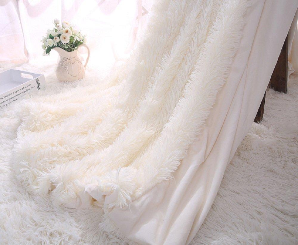 Super Soft Shaggy Faux Fur Blanket Ultra Plush Decorative Throw Blanket