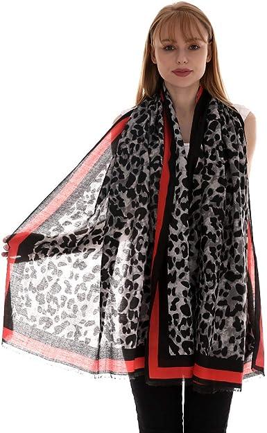 5 Color Combinations Leopard Design Fashion Scarf Crinkle