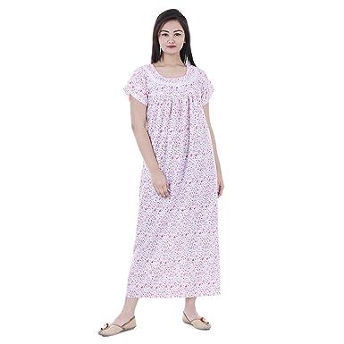 a0f1a59b7b445 Amazon.com: Women Cotton Night Wear Gown Sexy Nighties Nighty ...