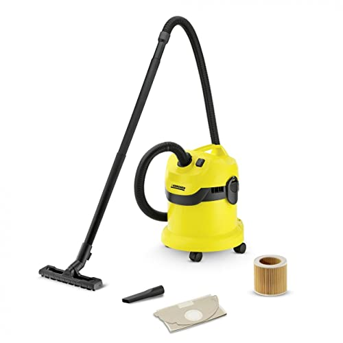 Kärcher WD2 Tough Vac Wet and Dry Vacuum Cleaner, Yellow