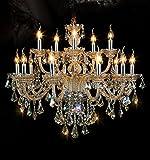 Generic Island Lights Crystals Chandelier 15 Lights Ceiling Fixtures Color Cognac ()