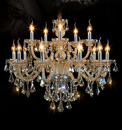 Generic Island Lights Crystals Chandelier 15 Lights Ceiling Fixtures Color Cognac