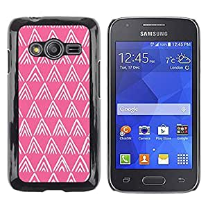 Paccase / SLIM PC / Aliminium Casa Carcasa Funda Case Cover para - Pink White Pattern Polygon - Samsung Galaxy Ace 4 G313 SM-G313F