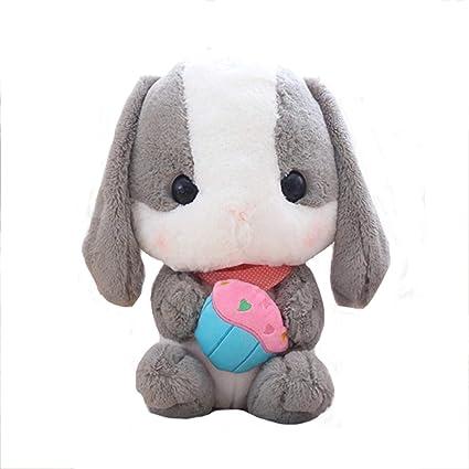 DMMASH Adorable Conejo Felpa Peluche Animal Peluche Suave para Regalos De Cumpleaños,Gray,40Cm