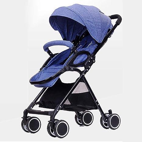 Opinión sobre Cochecito de bebé, Carrito de Gran Altura, Multifuncional, Ligero, Ultraligero, con Amortiguador portátil, Puede Sentarse en el Cochecito Plegable reclinable para niños