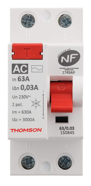 Thomson 30mA type AC 63A NF Interrupteur diff/érentiel /à vis