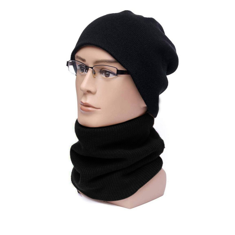 Women Men Winter Warm Infinity Cable Knitted Neck Cowl Collar Velvet Scarf Shawl