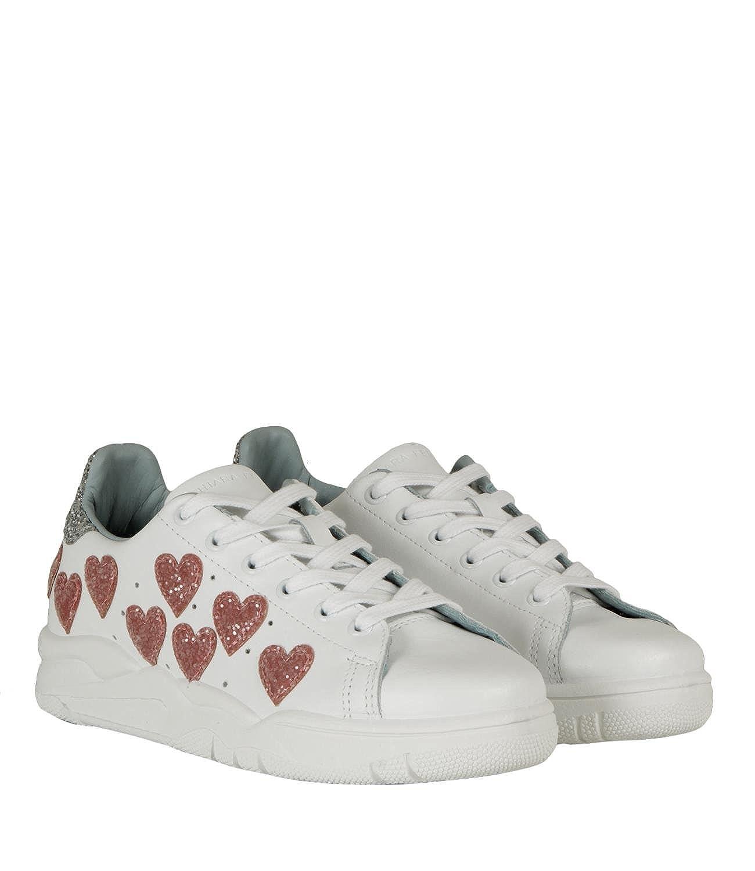 c8f119316b6a2 Chiara Ferragni Sneakers Roger Hearts Bianco Donna MOD. CF1915 36   Amazon.it  Scarpe e borse