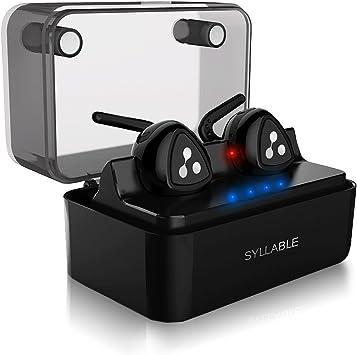 Auriculares Bluetooth, Syllable D900 Auriculares Deportivos Inalámbricos Bluetooth 4.2 Manos Libres con Caja de Carga Inteligente para Coche iPhone Samsung Huawei(Nueva Versión): Amazon.es: Electrónica