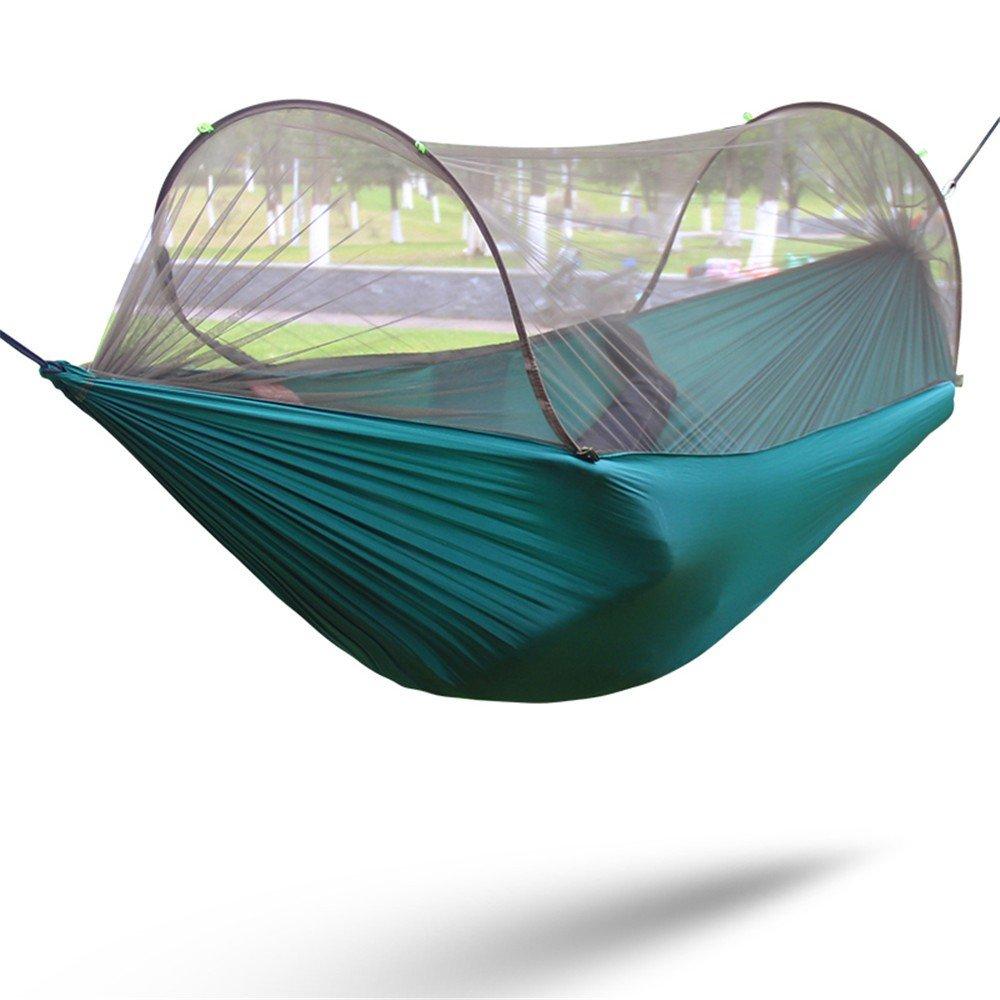 Zyyaxky Hängematte Im Freien Einzelne Doppelte Geschwindigkeit Offene Moskitonetz Indoor Camping Camping Schaukel Hängematte