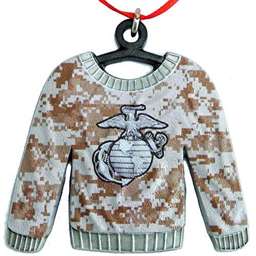 Indiana Metal Craft US Marine Corps Camo EGA Ugly Sweater Ga