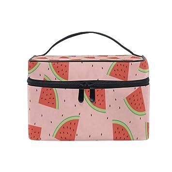 857b9f3d2b64 Cosmetic Bag Juicy Watermelon Womens Makeup Organizer Girls ...