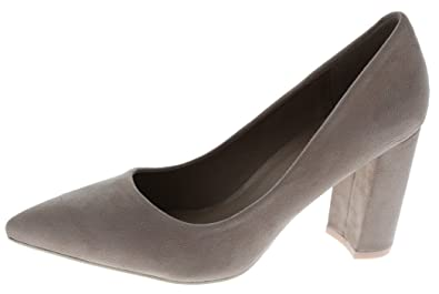 eb46383b55a Cambridge Select Women s Closed Pointed Toe Slip-on Chunky Wrapped Block  Heel Pump