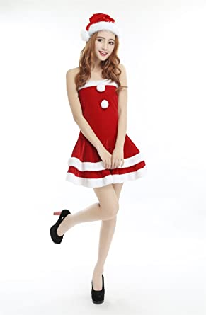 women christmas costuume sexy red christmas dress santa claus costumes for adults uniform - Christmas Clothes For Adults