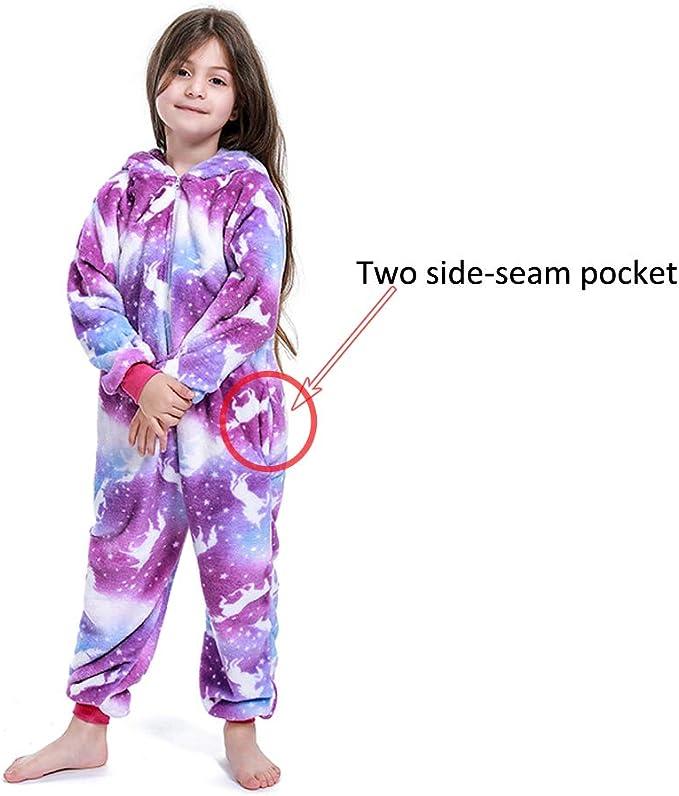 LANTOP Plush Pajama Kids Nightgown Super Soft Sleepwear Cotton Cosplay Robe