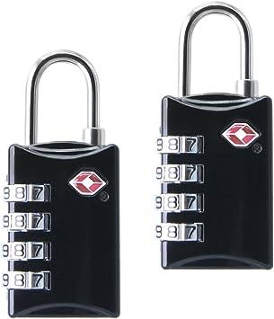 TSA Luggage Locks Cerraduras 2pc 4-Dial Combination Viaje Maletas ...