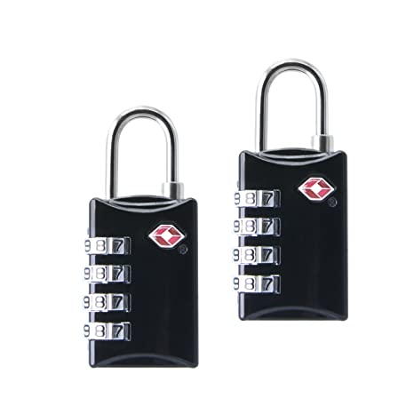 81e0eadcdaed TSA Lock (2 Pack) Approved Luggage Locks TSA Combination Lock Box for  Travel Suitcase Safety and Security