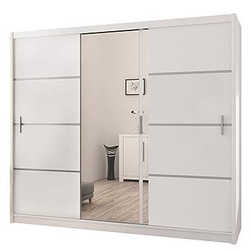 Kleiderschrank weiß spiegel  Kleiderschrank Rapid, Schwebetürenschrank mit Spiegel, Schiebetür ...