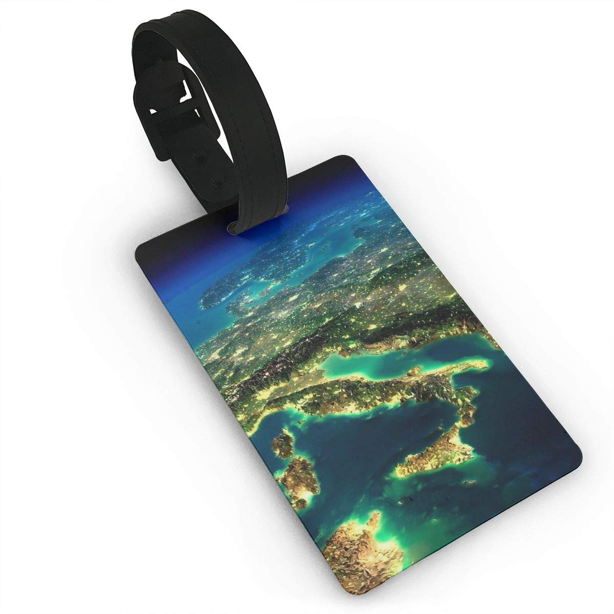 World Map Baggage Tag For Suitcase Bag Accessories 2 Pack Luggage Tags
