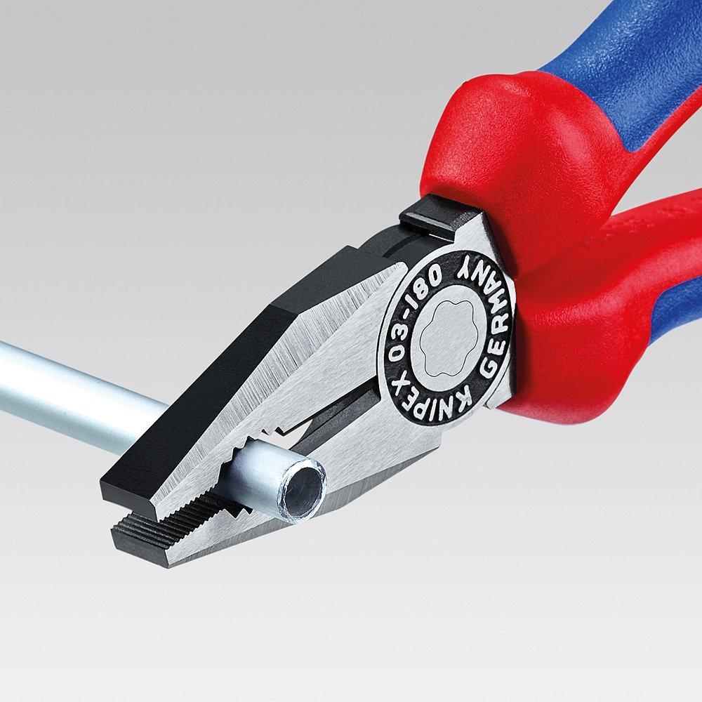 KNIPEX 03 05 140 Alicate universal cromado con fundas en dos componentes 140 mm