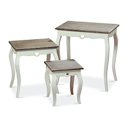 Incroyable Whole House Worlds The French Country Style Side Tables, Set Of 3, Nesting,