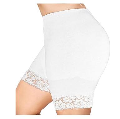 cc305e38a2 Femme Shorts de sécurité Grande TailleXL-5XL,Covermason Femmes en Dentelle  à Volants Jupes