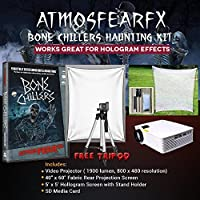 Amosfearfx Bone Chillers Video Ultimate Projector Bundle.Includes Projector, Dvd, Translucent Window Screen And Hologram Screen Stand Kit.