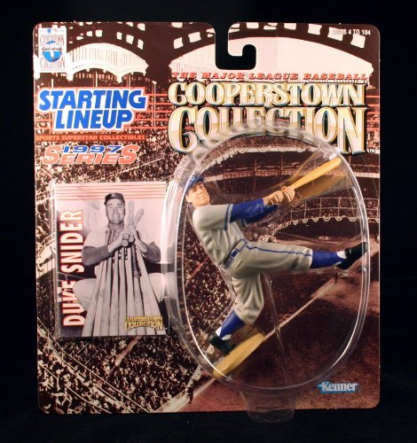 DUKE SNIDER / BROOKLYN DODGERS 1997 MLB Cooperstown Collection Starting Lineup Action Figure & Exclusive Trading -