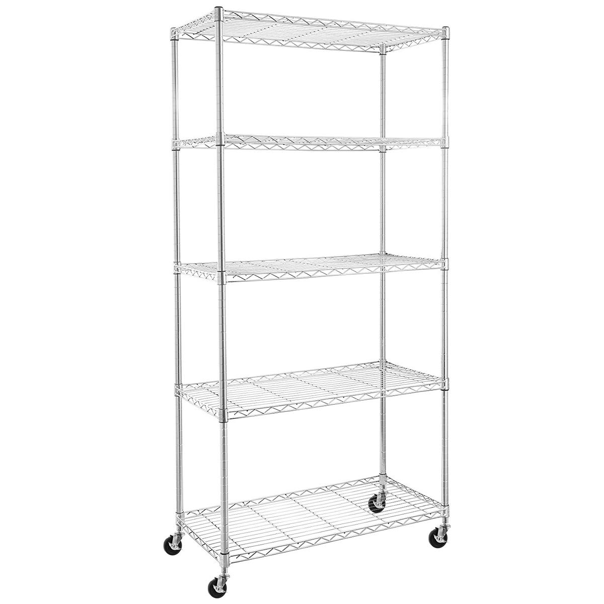 BRIAN & DANY Set of 5 Shelf Liners for Wire Shelving - Smoke Gray Baco Engineering