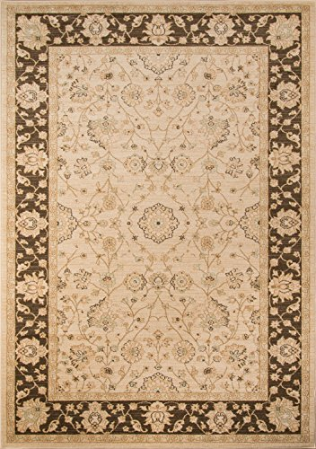 Momeni Rugs ZIEGLZE-01BRN2030 Ziegler Collection, Traditional Area Rug, 2' x 3', (Chobi Collection)