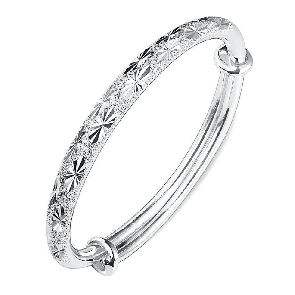Fashion Womens Charm Luxury Bracelet Jewelry Silver Bangle Gift