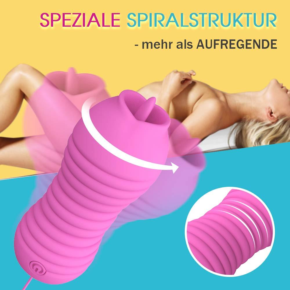 Bullet vibratoren - Drehung Vibration Klitoris und G-punkt Stimulator Zunge Liebeskugeln Sexspielzeug mit 12M fernbedienung für frauen Moruioy