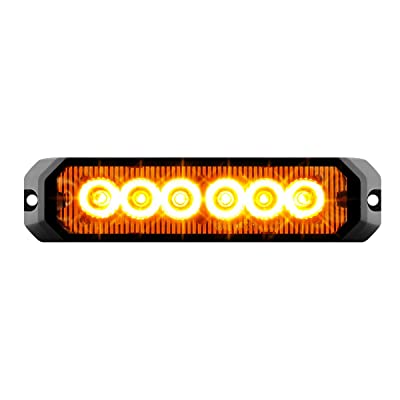 "GG Grand General 81810 Amber/Amber LED Strobe Light (5"" Rectangle 6, 14 Modes, 9~36V): Automotive"