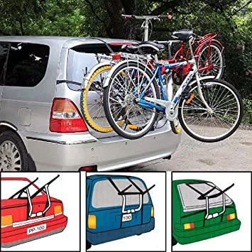 Rear Mount New 2 Bike Bicycle Carrier Car Rack Fits Most  Vehicles